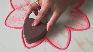 Top Beautiful Easy New Rangoli जो आप भी बना लेंगे   कॉफ़ी बोतल में लगाने वाले ढक्कन से बनाये रंगोली-