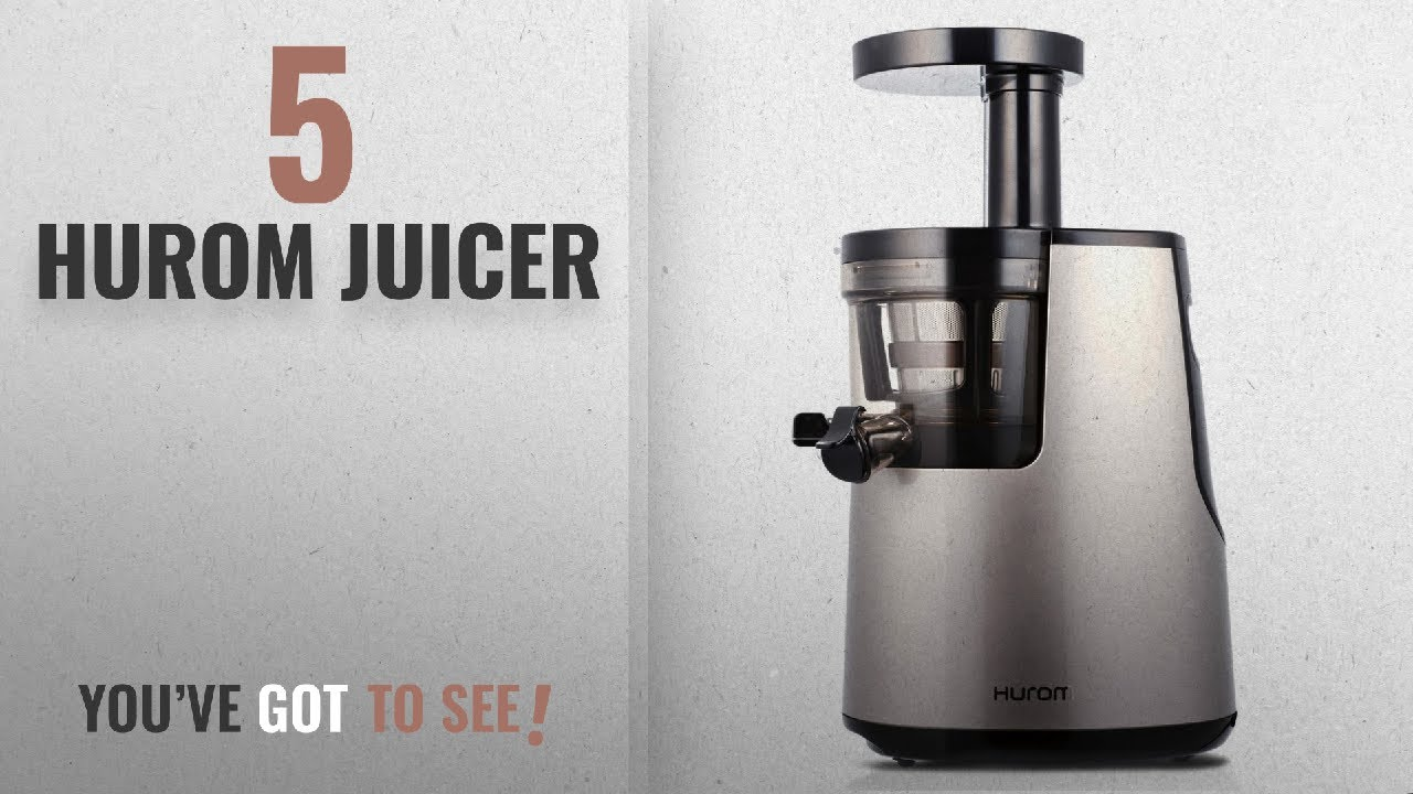 Slow Juicer Test 2018 : Top 10 Hurom Juicers [2018]: Hurom Elite Slow Juicer Model HH-SBB11 Noble Silver with Cookbook ...
