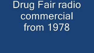 Drug Fair radio commercial from 1978