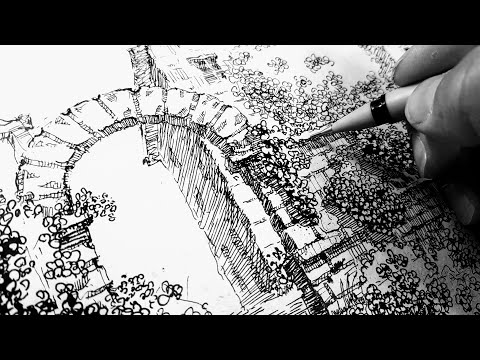 Обзор скетчбука. Графические картины-эмоции и техника рисунка. Рисование и искусство. Эдуард Кичигин