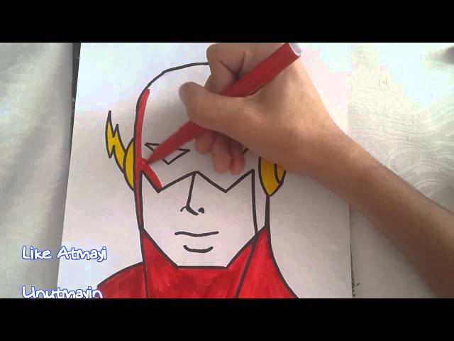 Süper Kahramanlar-The Flash Çizimi (How To Draw The Flash)