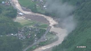 記録的な豪雨に見舞われた大分県日田市小野地区
