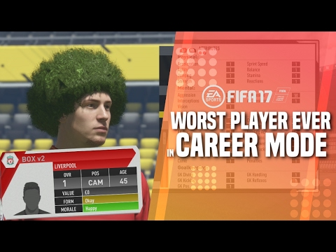 WORST PLAYER EVER IN FIFA 17 CAREER MODE!!! | Testing A 1 OVR Player (Parody)