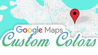 Google Maps Custom Colors in HTML And WordPress Free HD Video