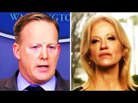 Sean Spicer, Trump's Press Sec., Debuts With Crazy Tantrum; Kellyanne Conway's 'Alternative Facts'