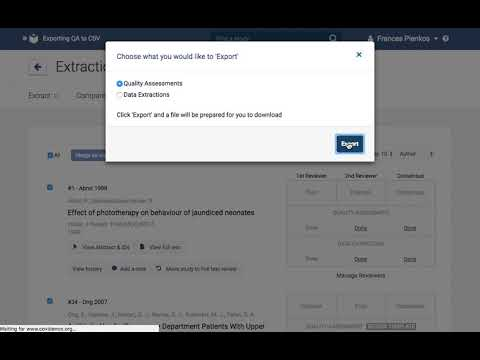 Exporting Quality Assessment Data To Csv/Excel - Youtube