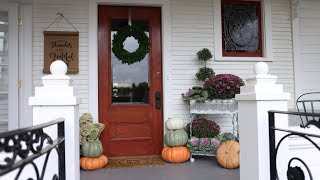 Decorating Our Front Porch for Fall! 🍂💗// Garden Answer