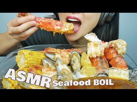 ASMR Seafood Boil + Bloves Sauce (EATING SOUNDS) | SAS-ASMR