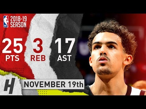 Trae Young Full Highlights Hawks vs Clippers 2018.11.19 - 25 Pts, 17 Ast, SICK!