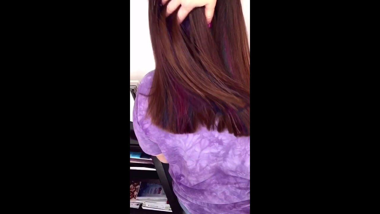 Hidden Underlights! Crazy color hair ! - YouTube