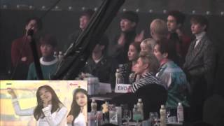 shinee taeyeon boa vixx reaction apink seoul music awards 2016