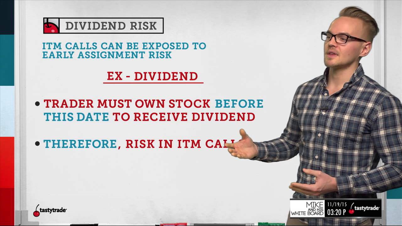 Trading options around dividend dates
