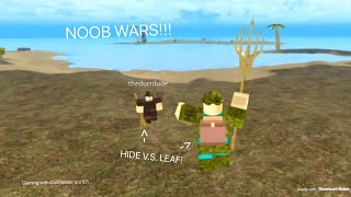 ROBLOX Booga Lost Sea | NOOB WARS!!! (PVP IN BOOGA LOST SEA!)