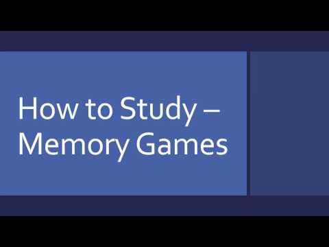 How to Study - Memory Games