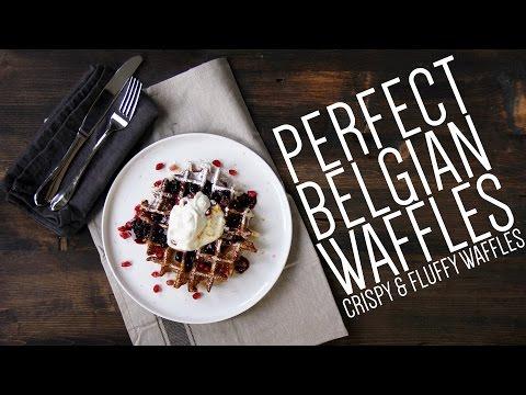 Belgian Waffles | Easy Homemade Belgian Waffle Recipe