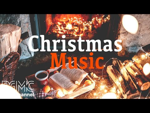 Silent Christmas Night Jazz with Fireplace - Smooth Background Slow Jazz - Winter Romantic Music