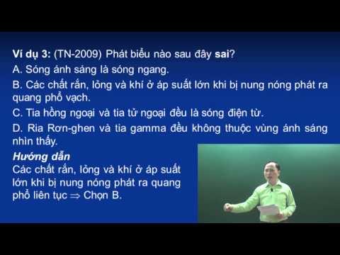 Lý thuyết phần sóng ánh sáng - Thầy Chu Văn Biên