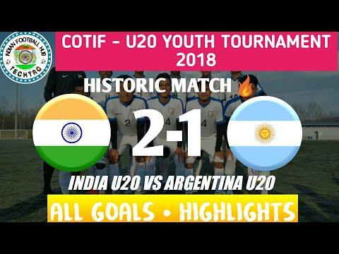 India U20 vs Argentina U20  2 - 1  Match Highlights in 1080p