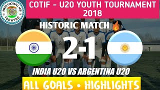 India U20 vs Argentina U20 || 2 - 1 Full Match Highlights in 1080p HD ||