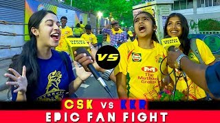 CSK Vs KKR Fan Fight"