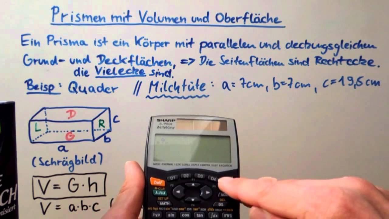Mathe Basiswissen Kl.8 Teil 4 von 7: Prismen mit Volumen und ...