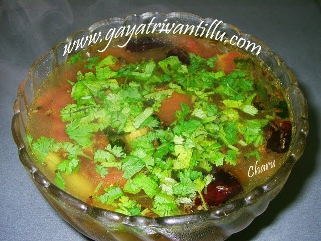 Charu - Rasam - Indian Andhra Telangana Rayalseema Costa Telugu Recipes - Vegetarian Cuisine Food Travel Video