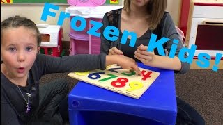 Learn English Words! Classroom Mannequin Challenge! Frozen Kids!