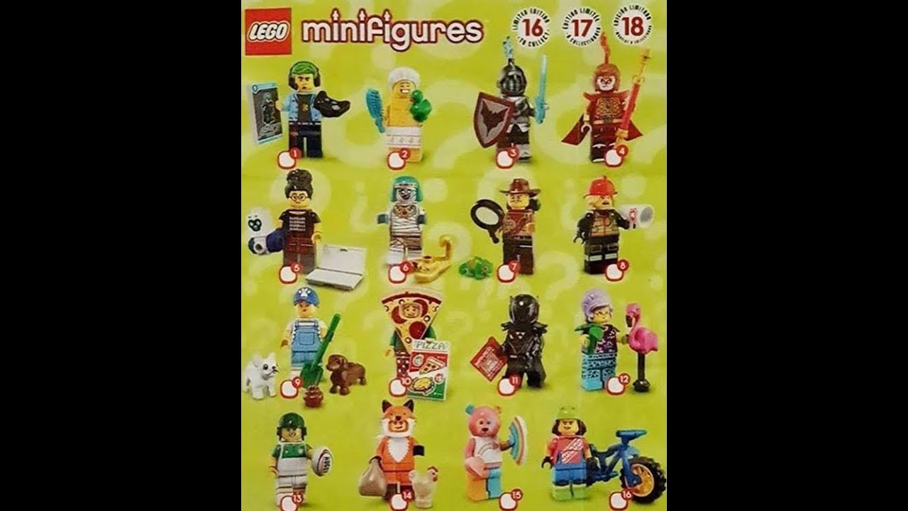 LEGO Minifigure Series 19 information - YouTube