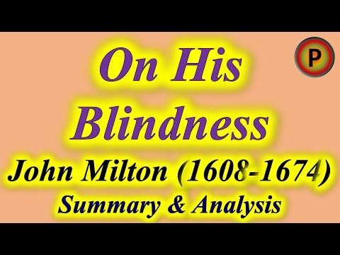 On His Blindness Poem By John Milton 12e1501 उनक