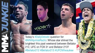 Daily Debate: Who was the biggest star from the packed weekend of MMA?