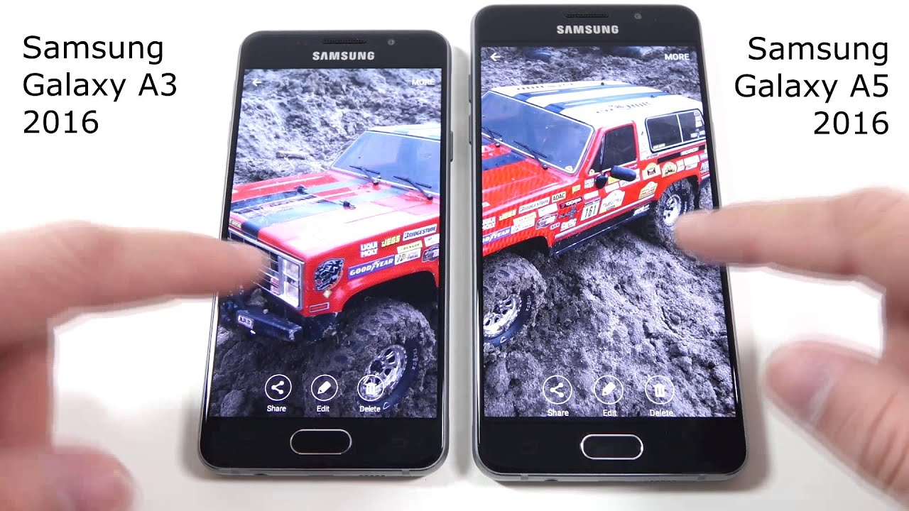 Samsung Galaxy A3 2016 versus Samsung Galaxy A5 2016