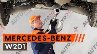 Kuinka vaihtaa äänenvaimentaja MERCEDES-BENZ 190 W201 -merkkiseen autoon [Ohjevideo]