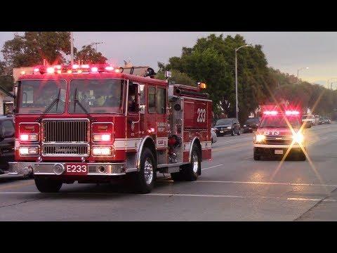 LAFD Structure Fire Response - South Central, LA
