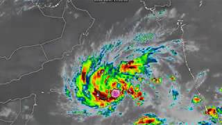 Cyclone in the Arabian Sea headed for Oman - 6am GST Oct 8, 2018