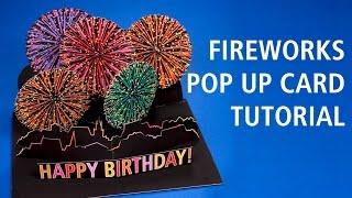 Fireworks Pop Up Card Tutorial