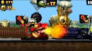Super Zombie Dragon Completing Mission Golden Bombs In Zombie Tsunami