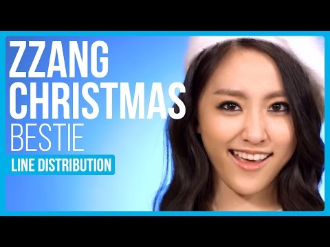 BESTie - Zzang Christmas Line Distribution (Color Coded) | KPOP Christmas Countdown
