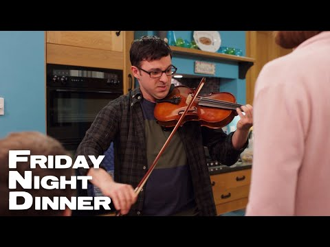 Adam Tries To Play The Violin For The Family   Friday Night Dinner