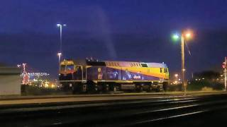 Diesel locomotive 42206 shunts a freight train - PoathTV Railroads and Trains in Australia part 1