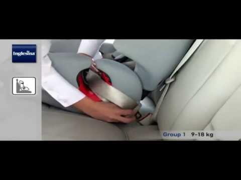 Inglesina Prime Miglia Установка автокресла в автомобиль