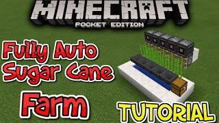 Fully Automatic Sugar Cane Farm [0.15.0+] MCPE REDSTONE CREATION TUTORIAL!