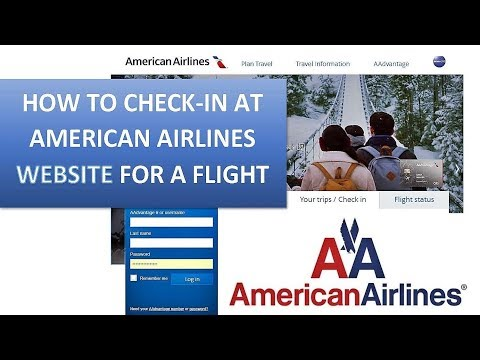 TRAVEL TIPS | AMERICAN AIRLINES : HOW TO CHECK-IN AT AMERICAN AIRLINES WEBSITE
