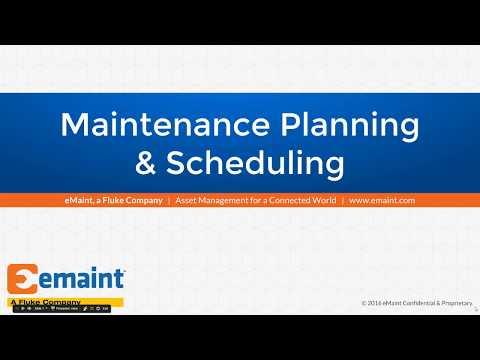 Best Practices Webinar: Maintenance Planning & Scheduling