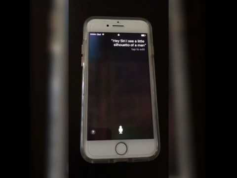 Ask Siri #1: I see a little silhouetto of a man
