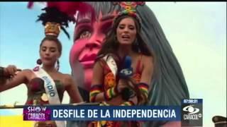 Música y color en el desfile de la Independencia de Cartagena