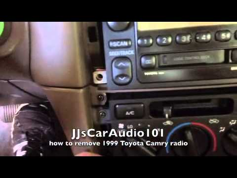 how to remove 1999 Toyota Camry radio