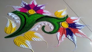 New latest attractive rangoli design by Jyoti Raut Rangoli