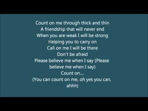 count on me whitney houston cece winans karaoke instrumental with lyrics