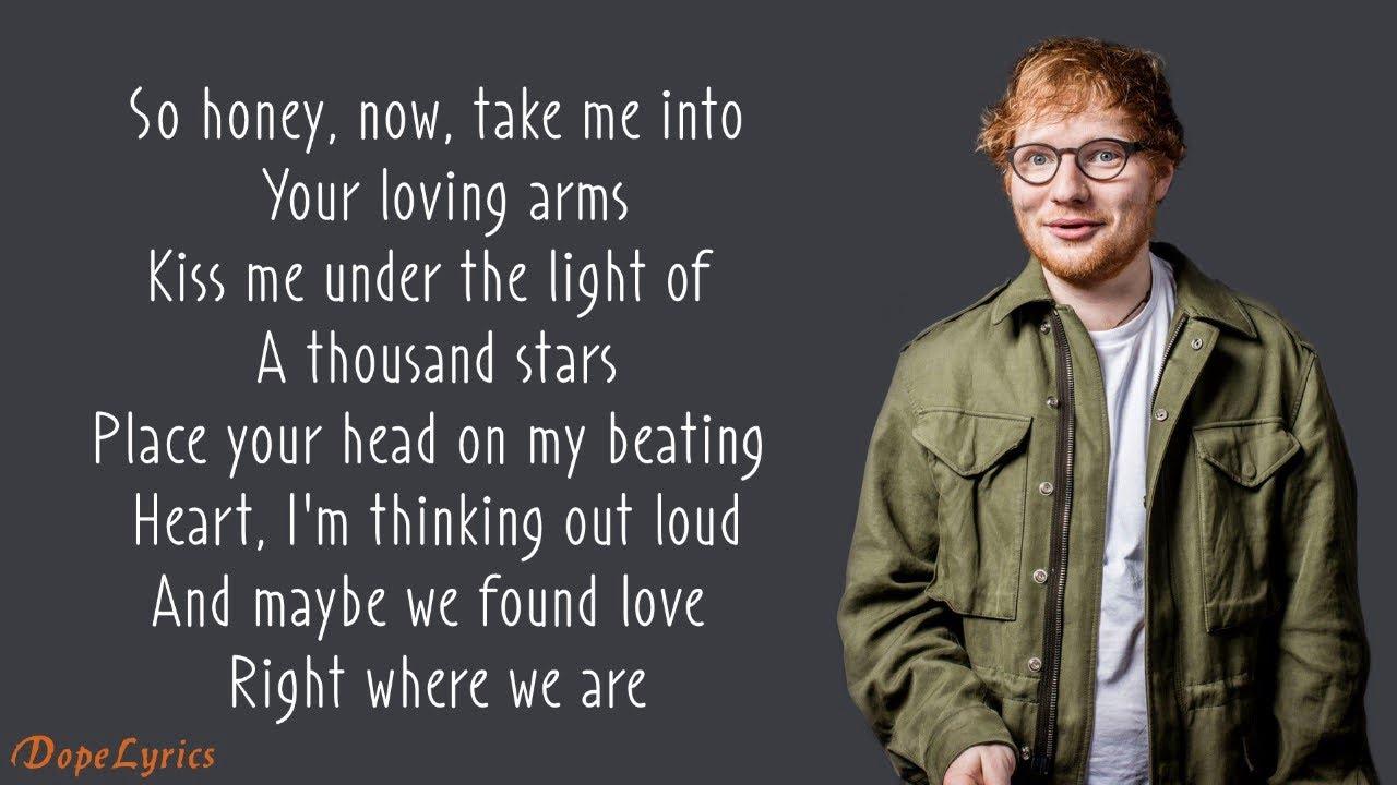 Photo of Ed Sheeran – Thinking Out Loud (Lyrics)
