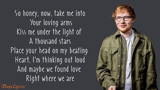 Скачать Ed Sheeran Thinking Out Loud Lyrics